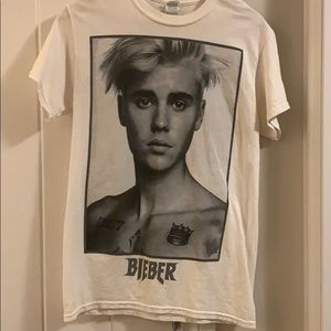 Classic Bieber Concert Tee Size Small